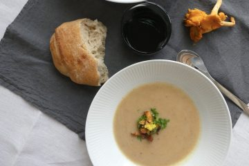 suppe med kantareller