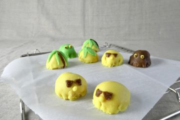 kajkage med kokos og lemoncurd