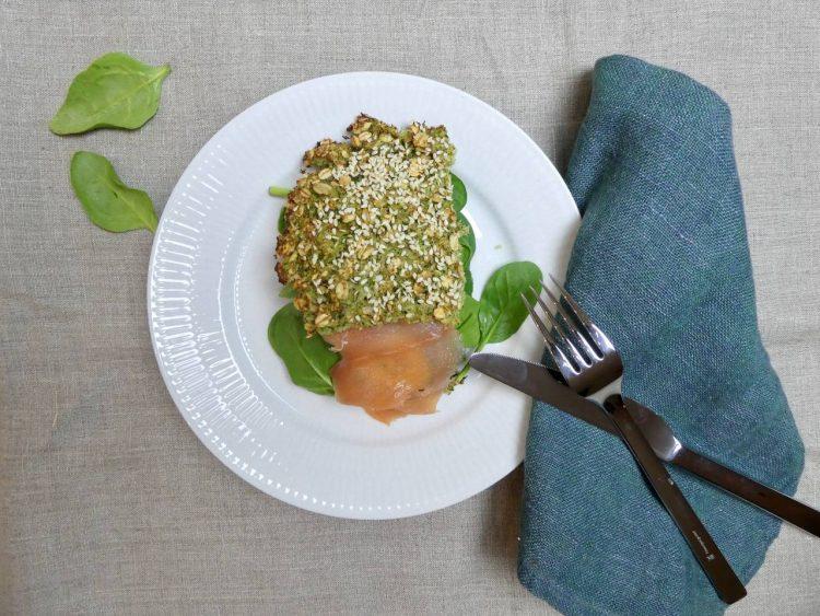broccolibrød med røget laks