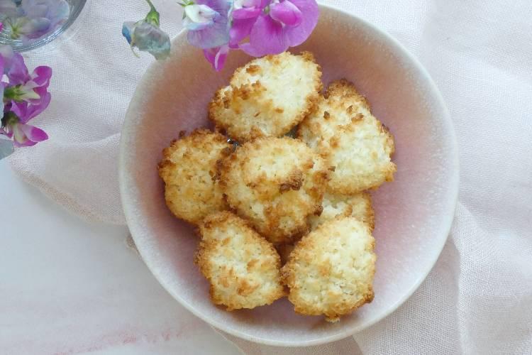 Kokosmakroner med ingefær - på 25 minutter