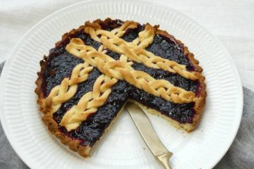 brombærtærte med fletværk