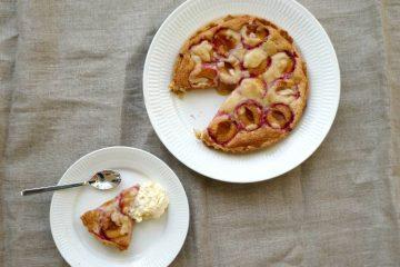 blommetærte med marcipan
