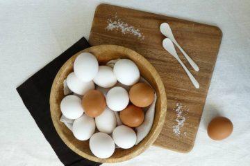 menu med æg